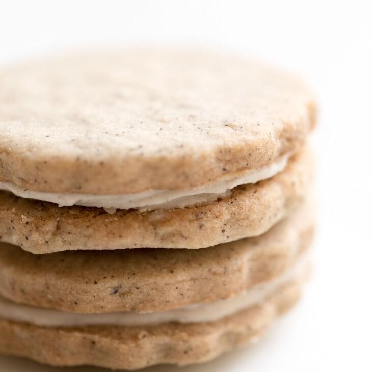 espresso cookies stacked