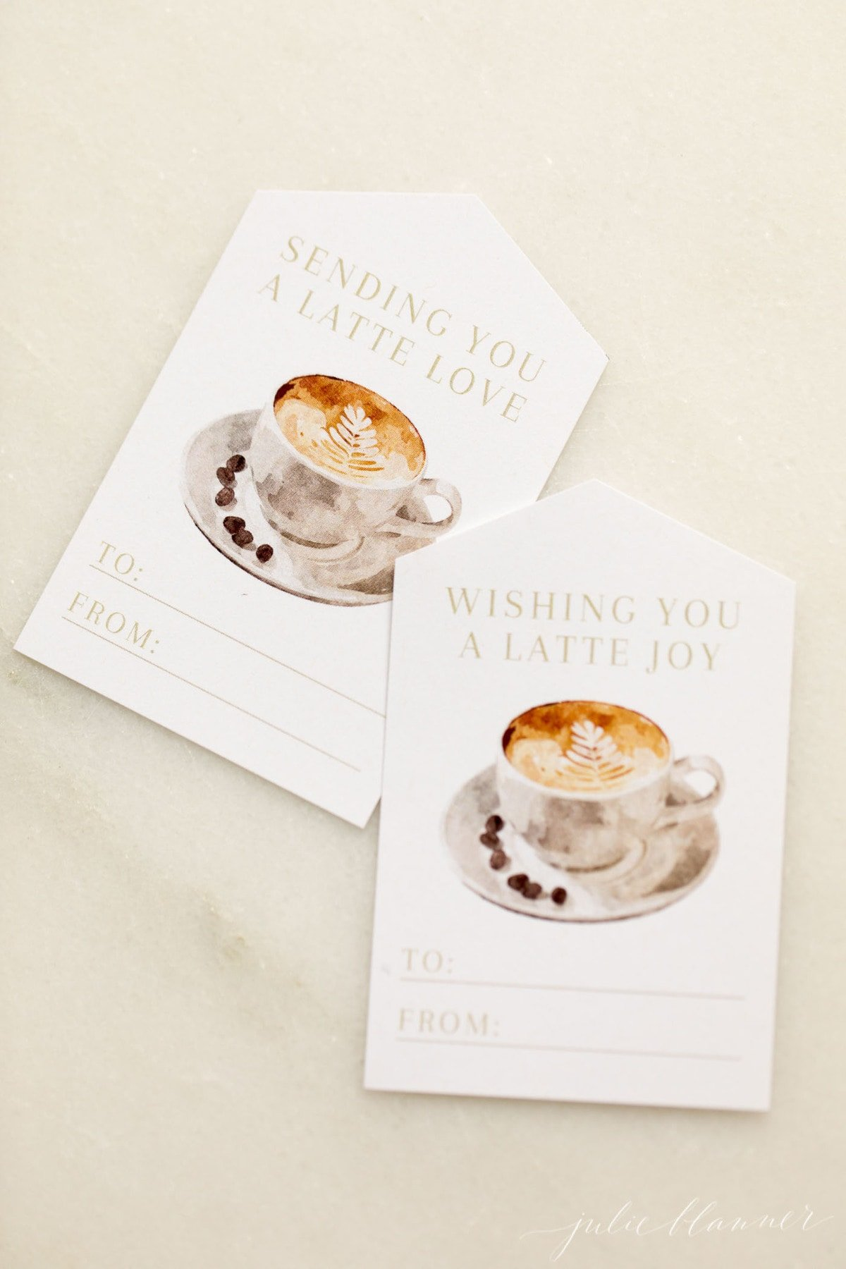 christmas gift tags latte