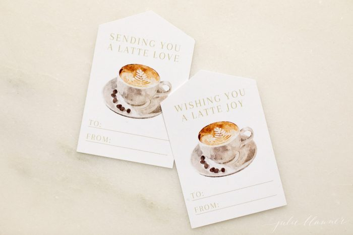 latte gift tags