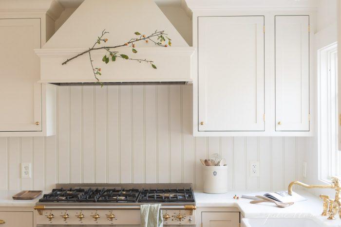 new kitchen with beadboard backsplash