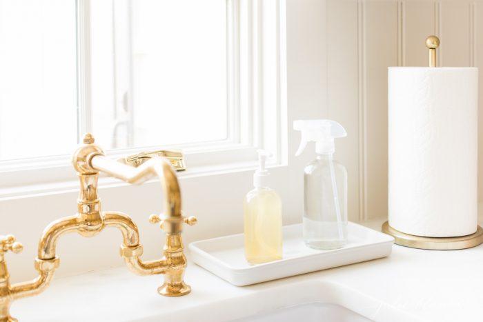 countertop sink organization