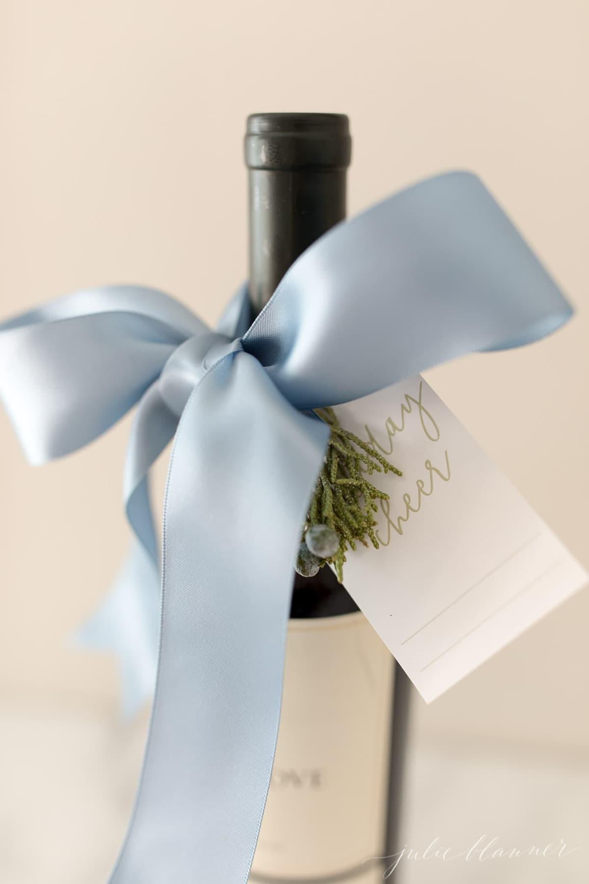 christmas wine gift tag