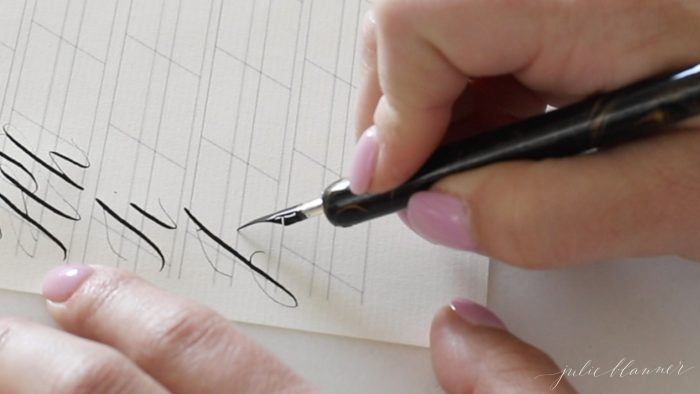 how to write calligraphy alphabet