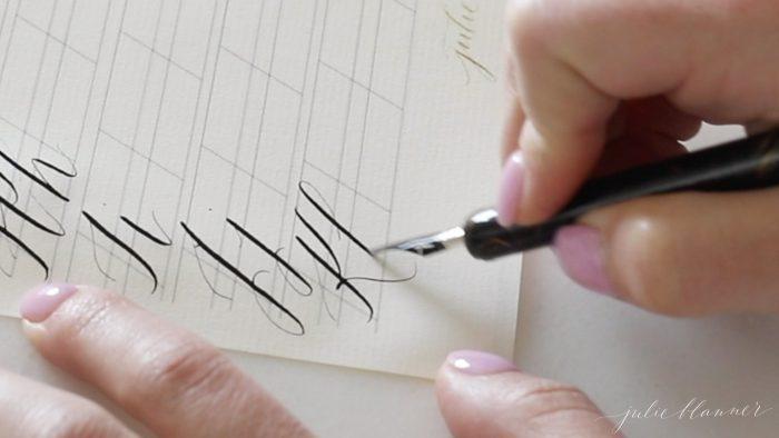 calligraphy letter k