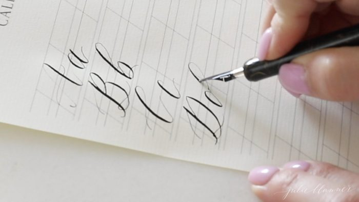 calligraphy letter d
