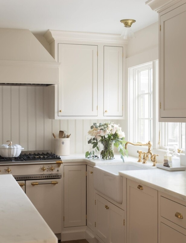 cream color paint in kitchen