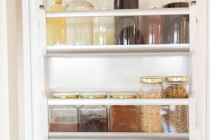refrigerator organization jars