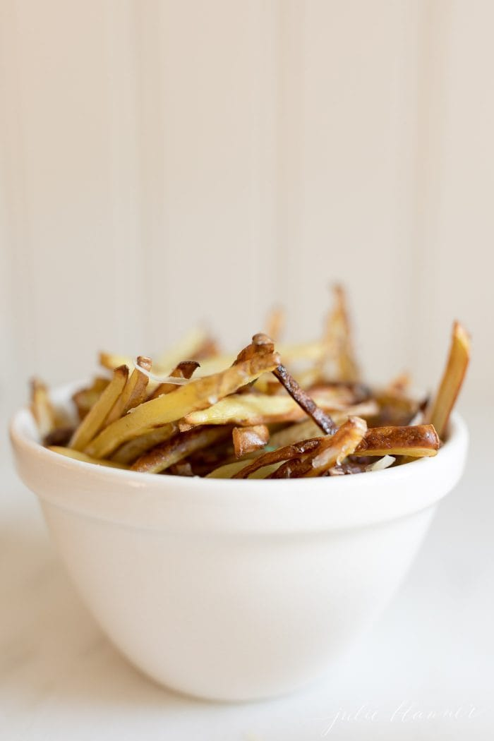 truffle fries in bowl