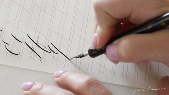fill in calligraphy letter