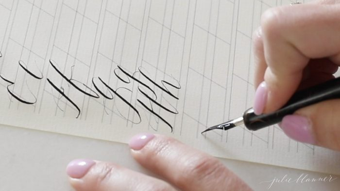 make calligraphy letters