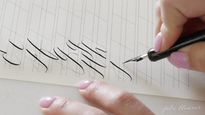 how to make a calligraphy letter