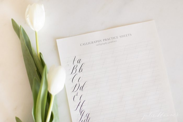 calligraphy letters