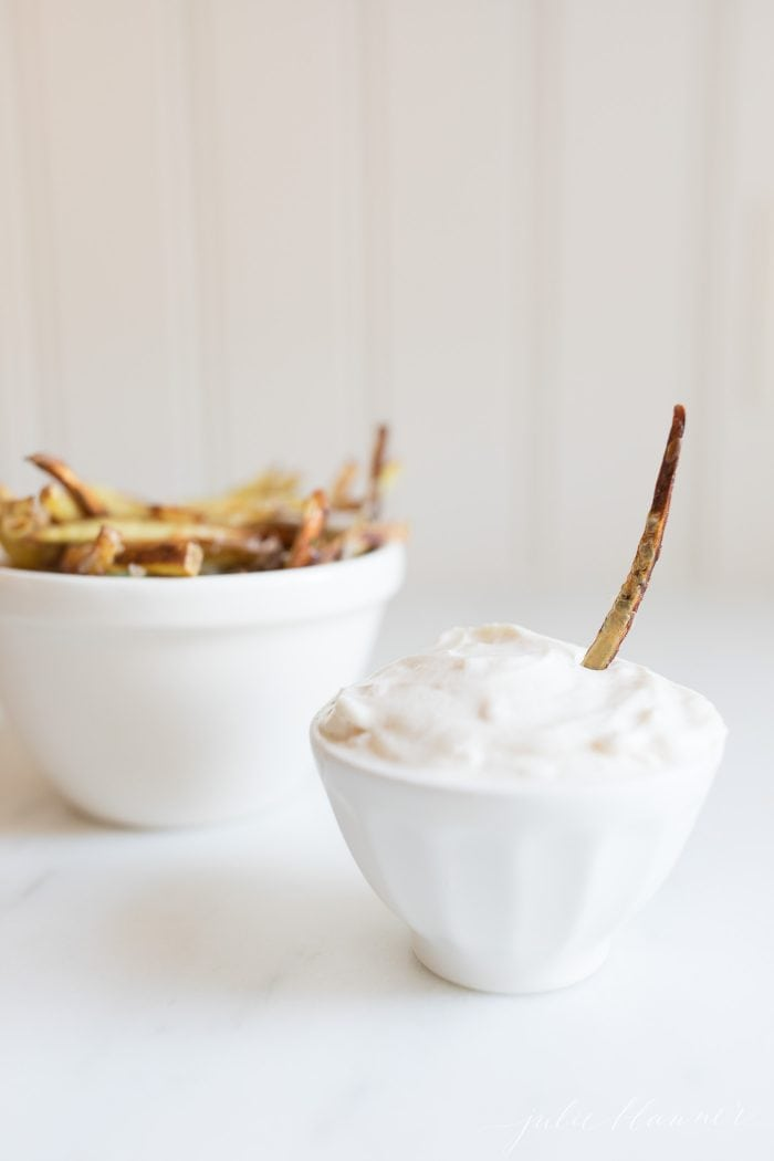 truffle mayo with fries