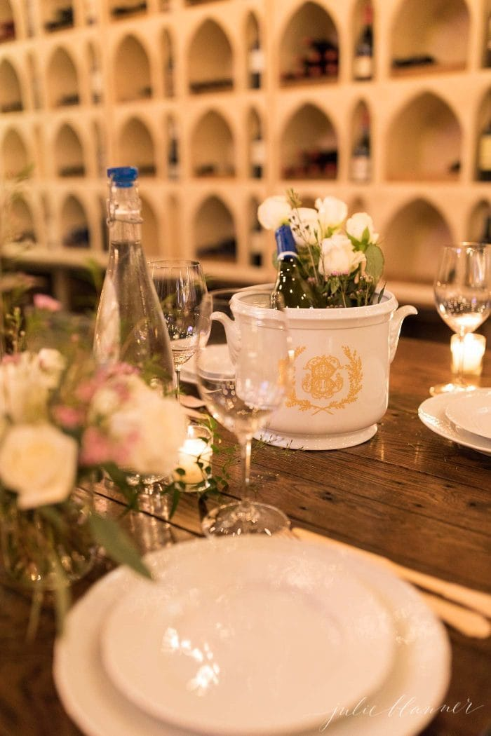 wine tasting party table setting