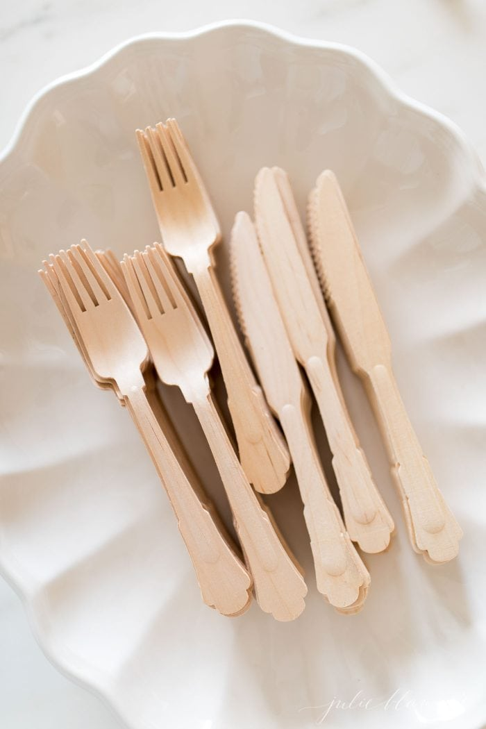 wood disposable utensils