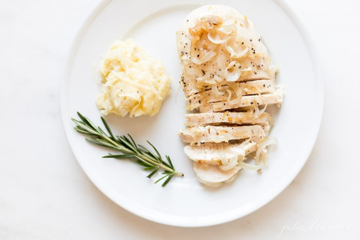 garlic chicken on a plate