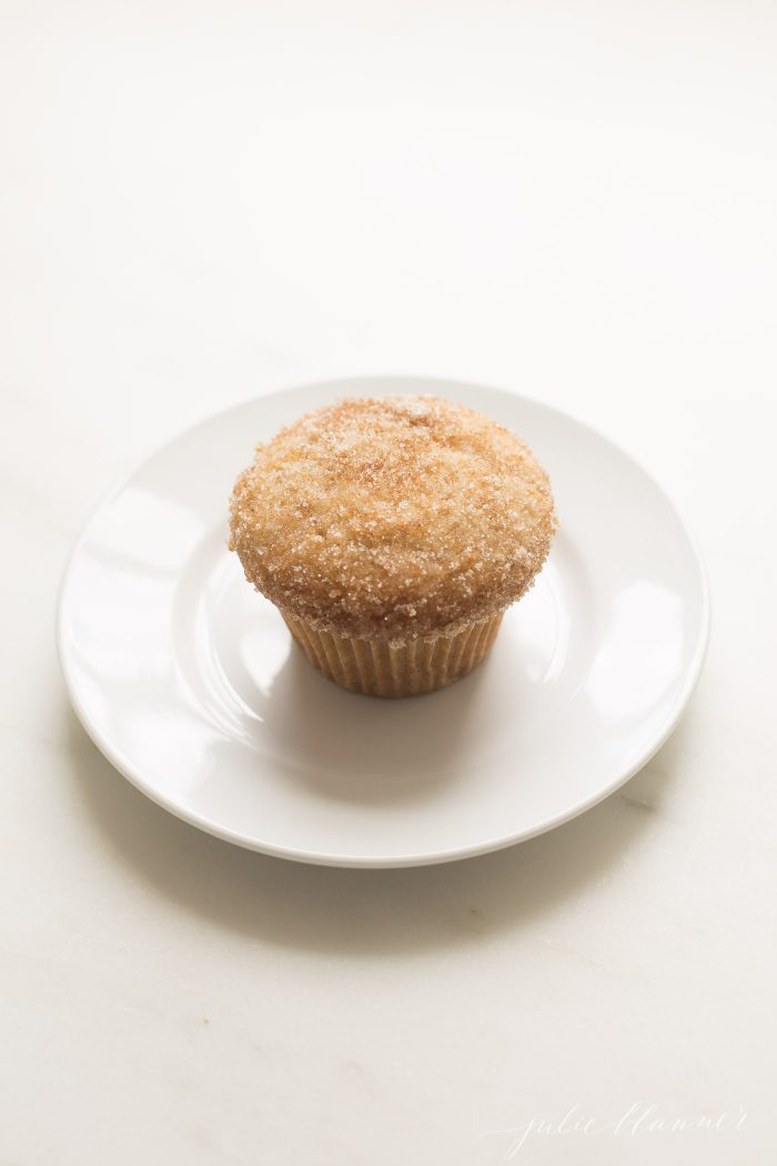 donut muffin on a plate
