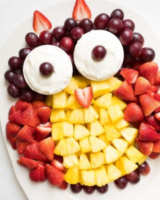 fruit plate | owl fruit platter