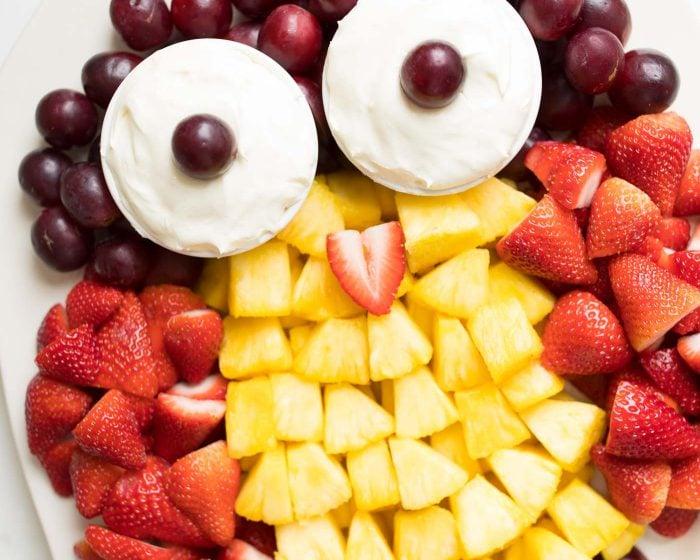fruit plate   owl fruit platter