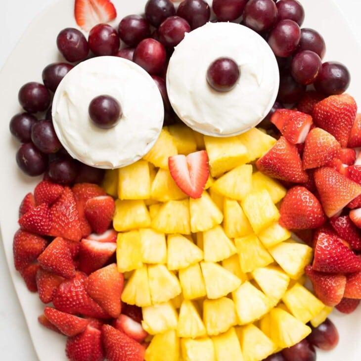 fruit plate | owl fruit platter