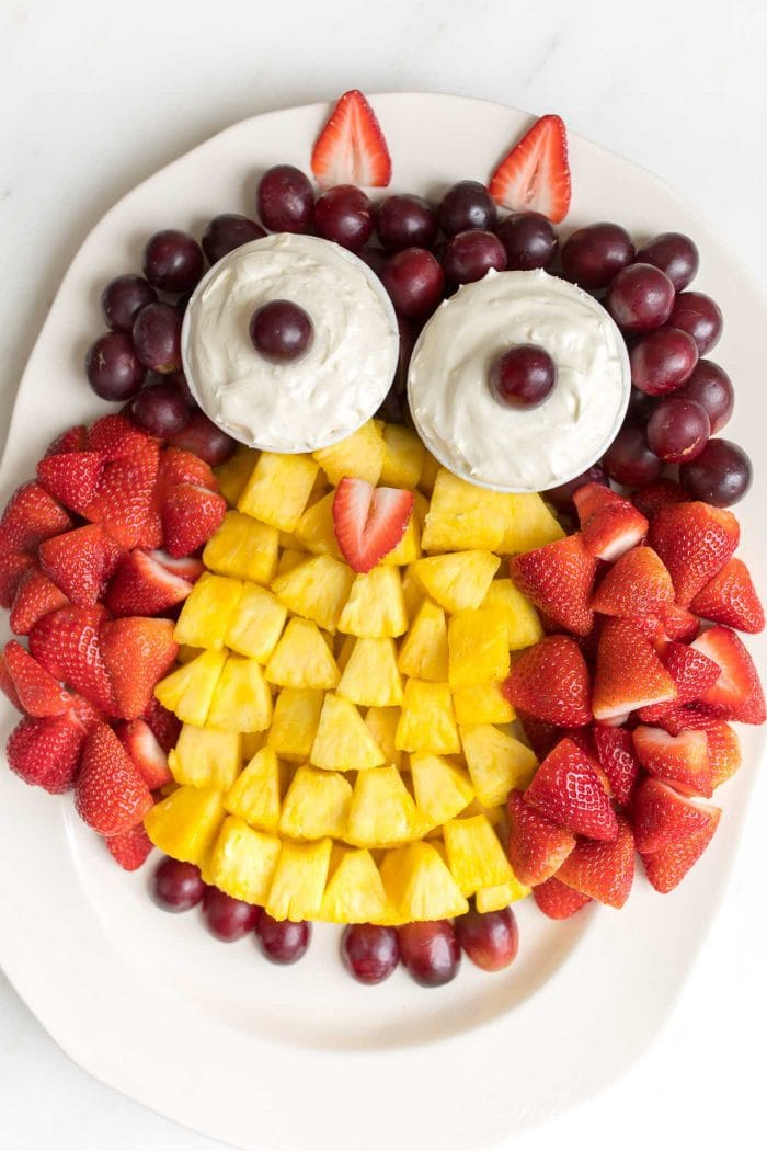 owl fruit plate
