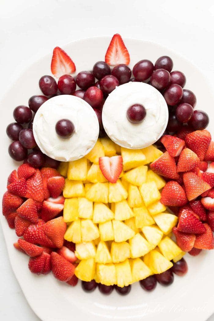 unique fruit platter ideas owl fruit plate