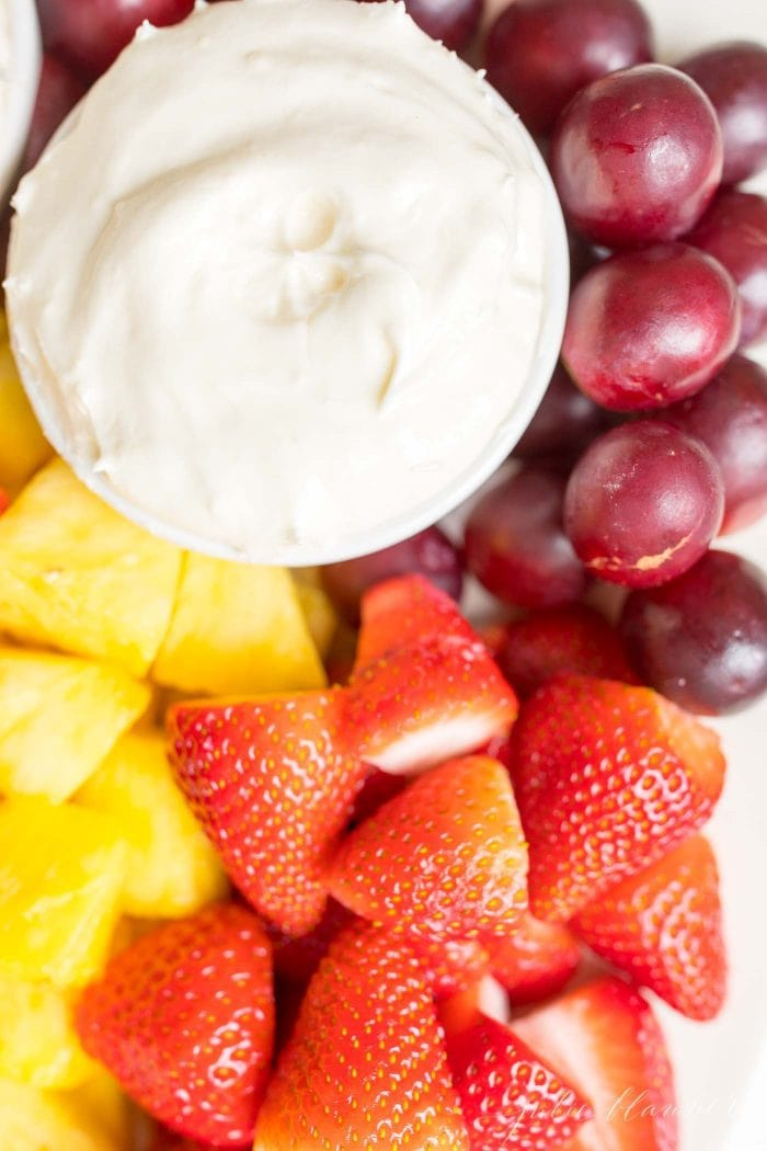 fruit dip and fruit platter ideas