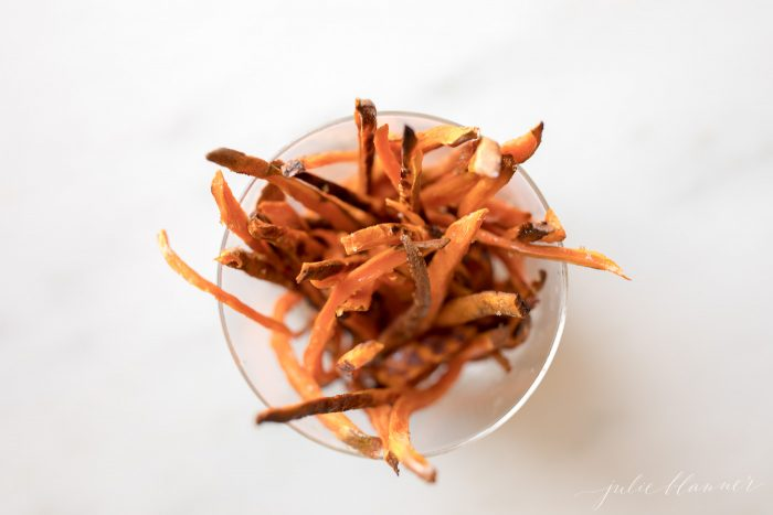 healthy sweet potato fries with sea salt
