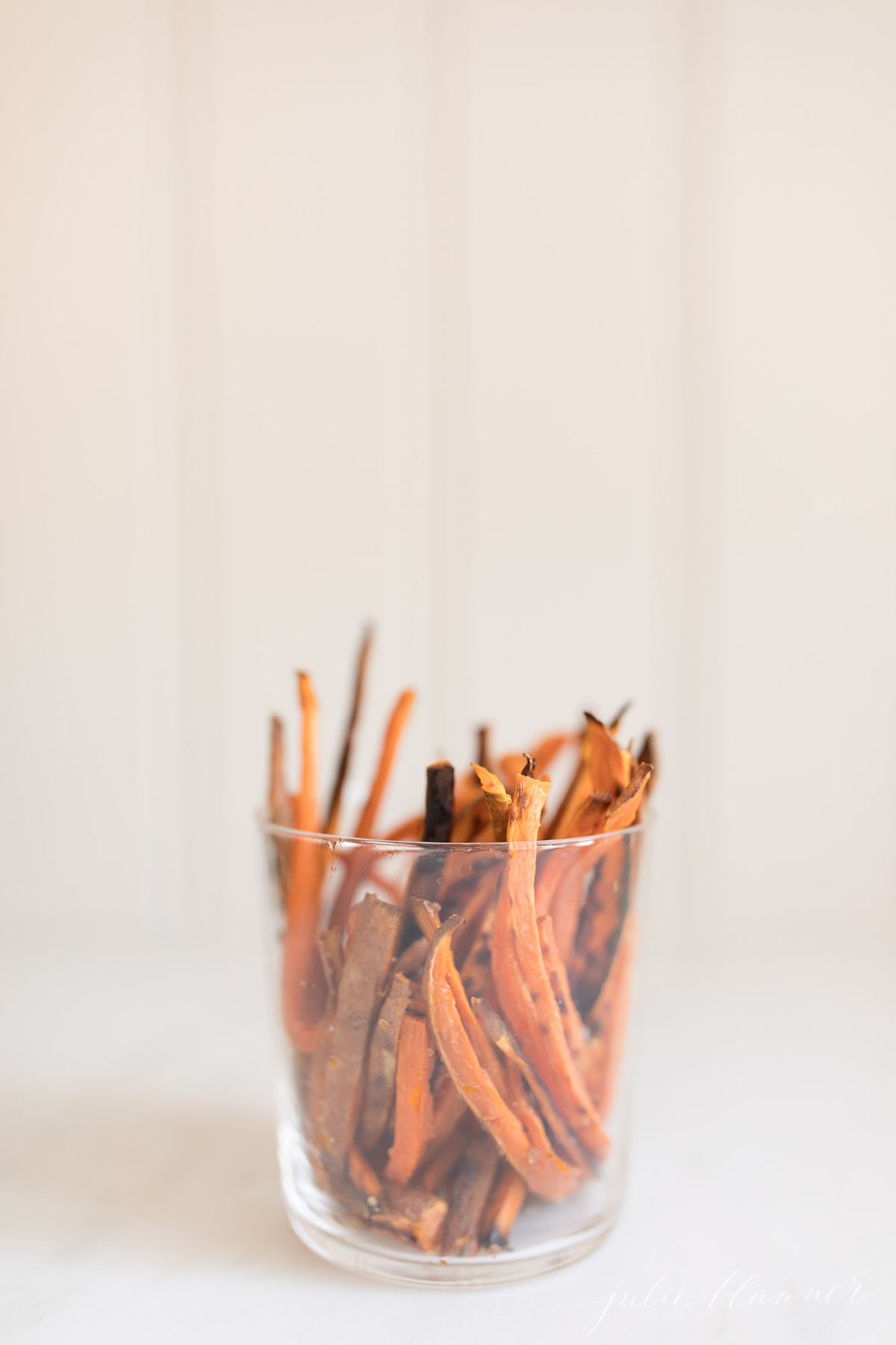 healthy sweet potato fries in a cup