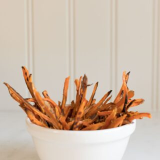healthy sweet potato fries in a bowl