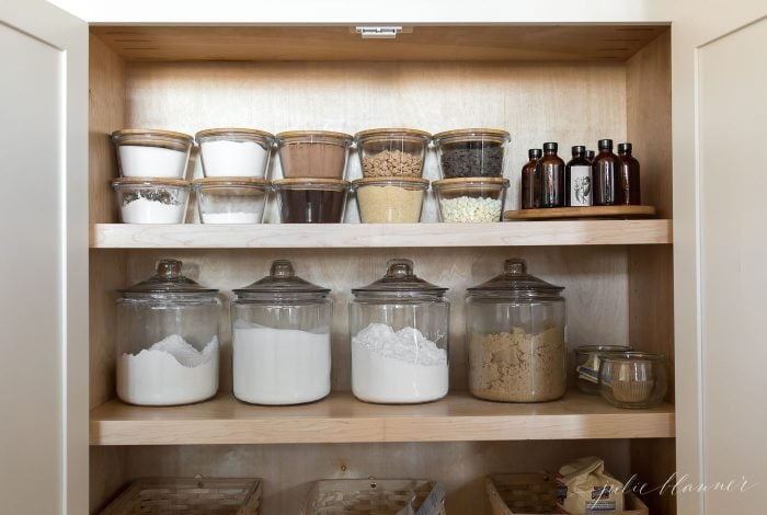 kitchen organization storing staples