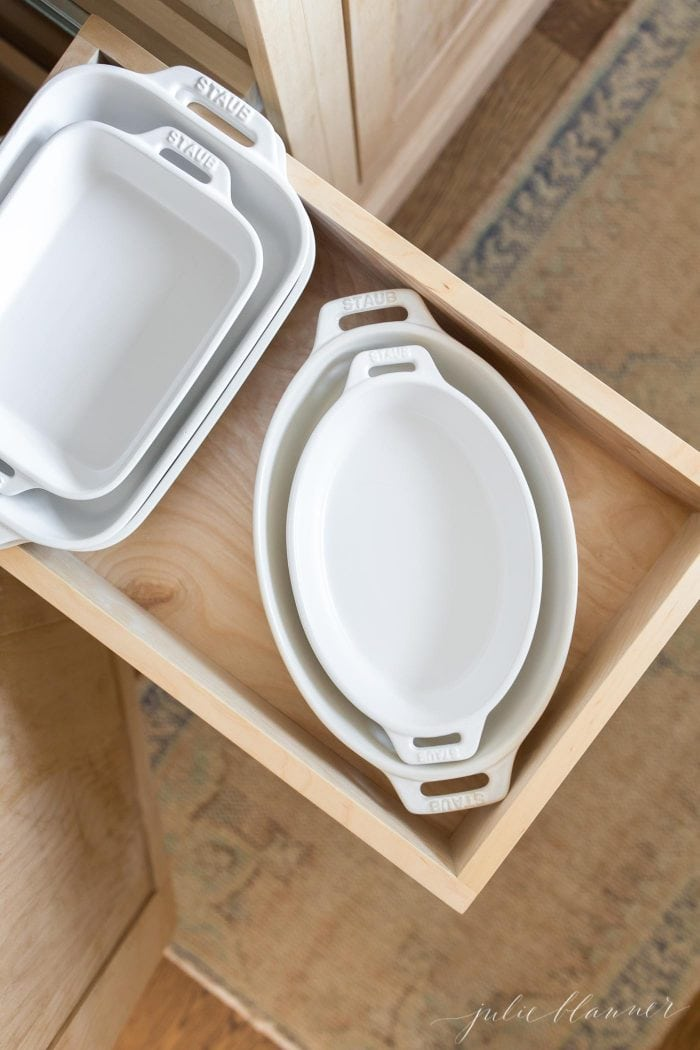 kitchen organization pull out drawer
