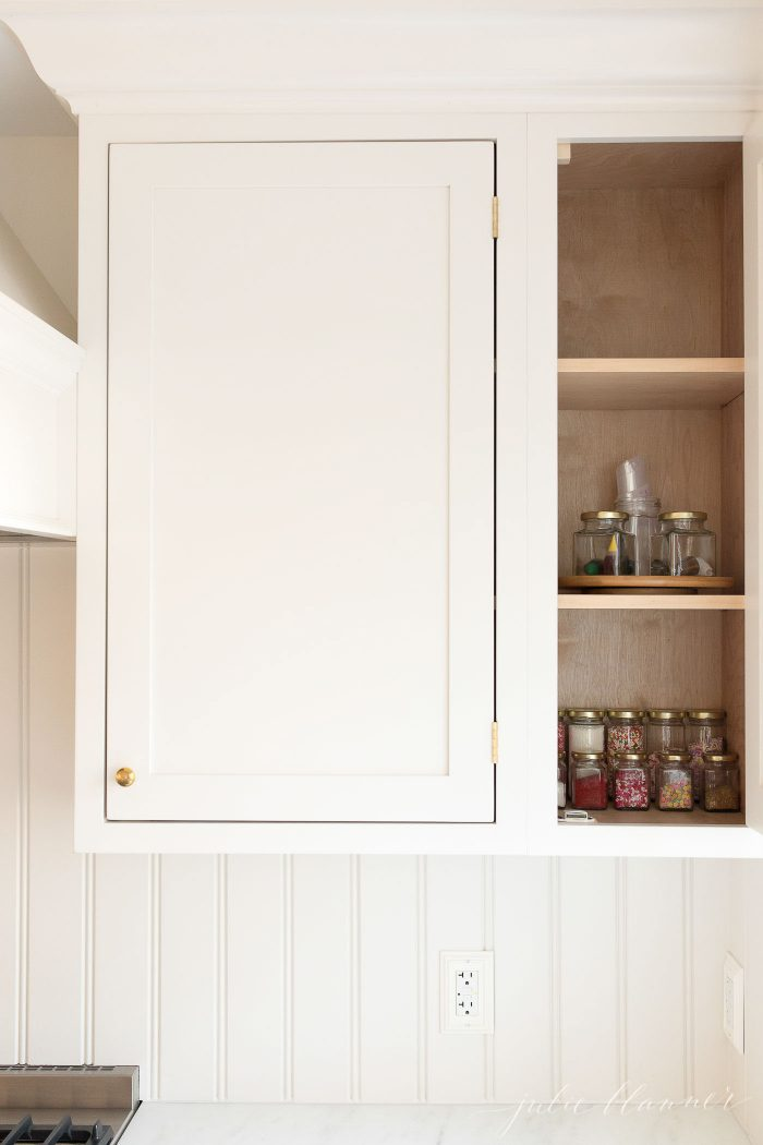 jars in cabinet