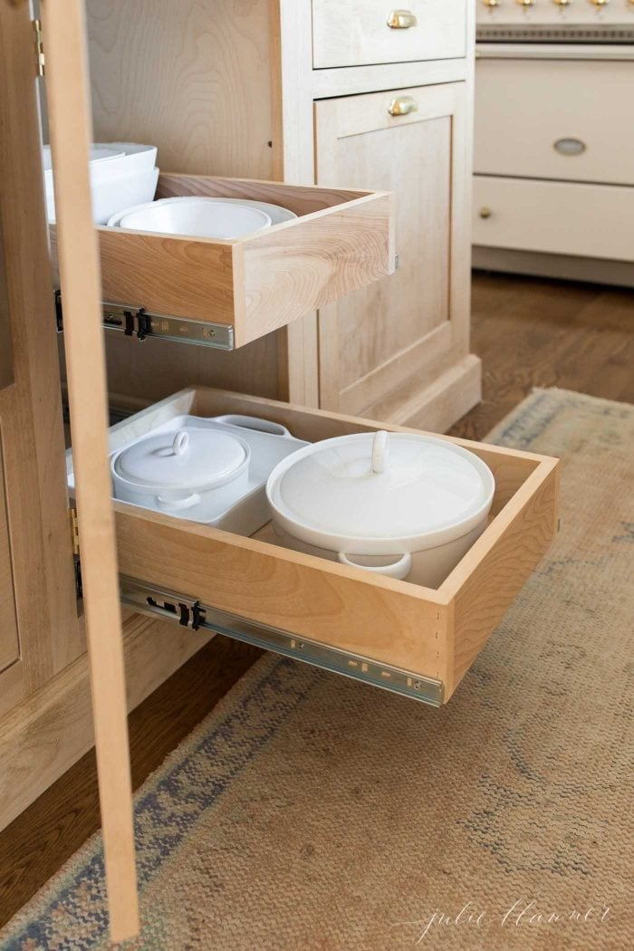 pullout drawers in kitchen