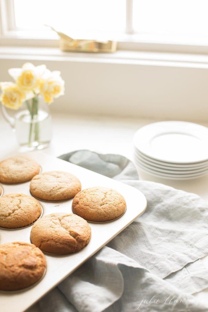 butter muffin in tin