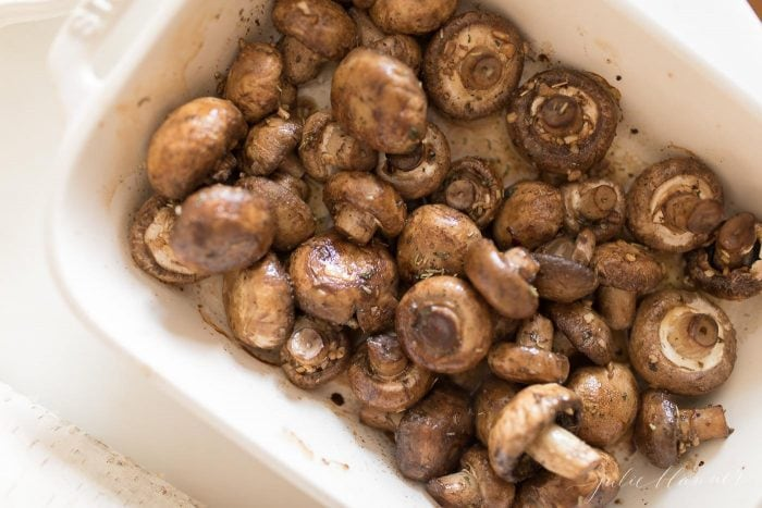 oven roasted mushrooms with garlic