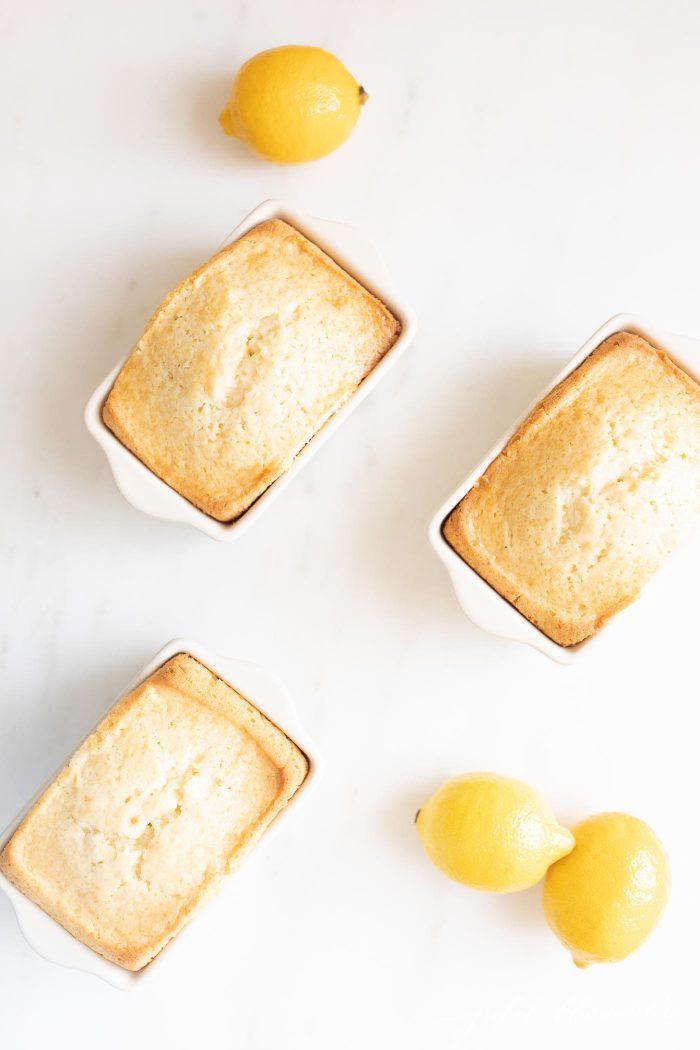 lemon bread in loaf pans