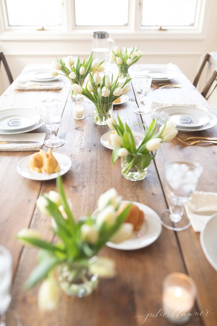 how to set a spring table