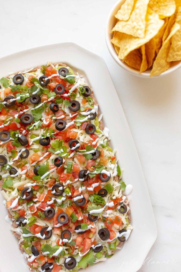 Mexican Layer Dip 7 Layer Taco Dip