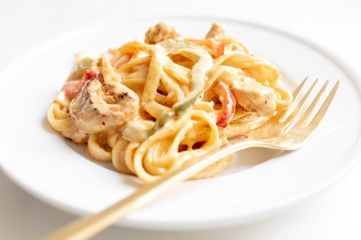 chicken pasta in Cajun Cream Sauce