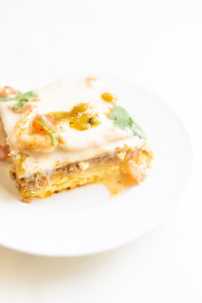 slice of Mexican Breakfast Casserole