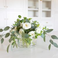 How to Arrange a White Ranunculus Centerpiece