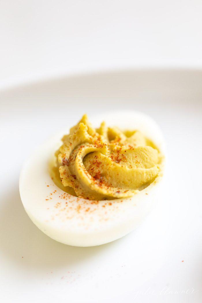 avocado egg on platter