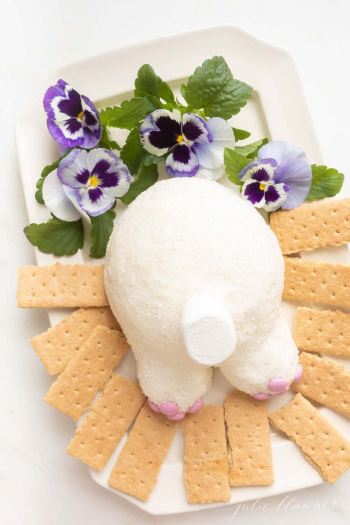 kid friendly easter dessert bunny cheeseball