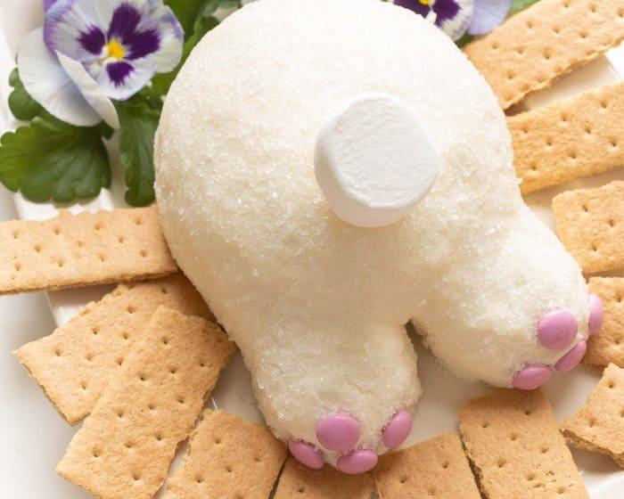 dessert cheeseball bunny butt easter dessert