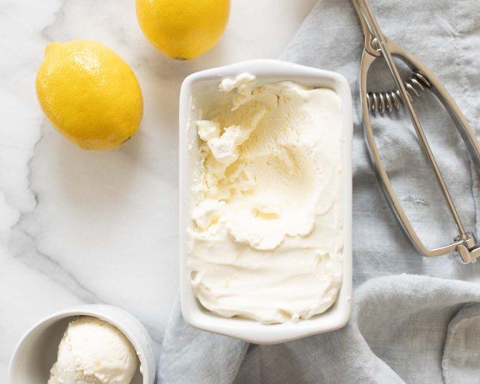 creamy lemon ice cream