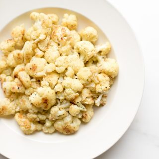 fiesta ranch baked cauliflower