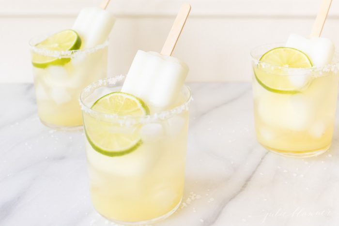 margaritas with frozen popsicles
