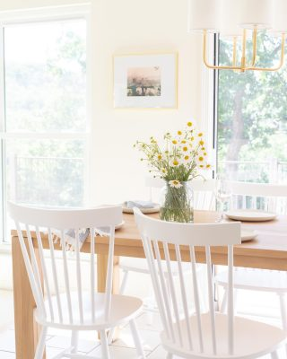 small dining room table in eat in kitchen