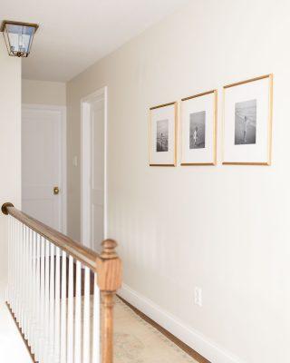 white trim paint in hallway